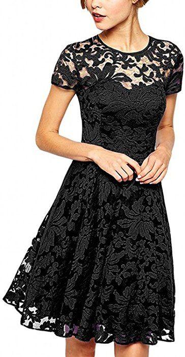 Amazon kleid schwarz spitze