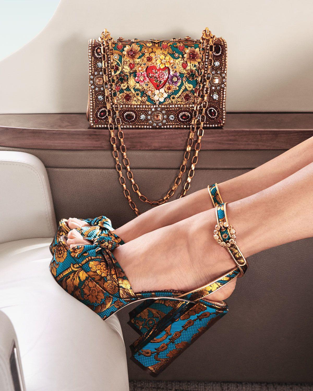 Dolce & Gabbana DG Girls Embellished Jacquard Shoulder Bag #bags