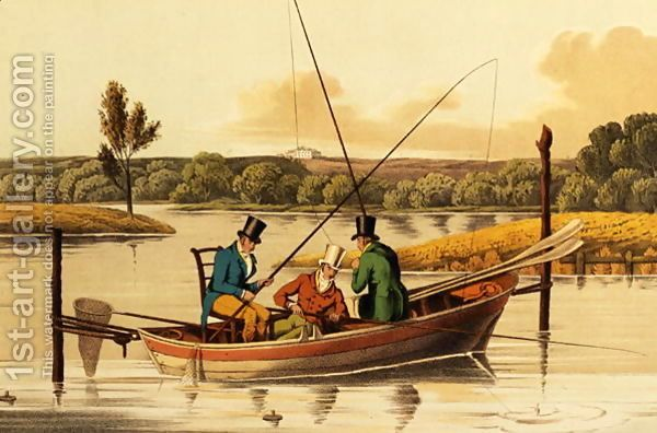 Fishing In A Punt Aquatinted By I Clark Pub By Thomas Mclean 1820 Painting By 1st Art Gallery Art Sports Paintings Painting