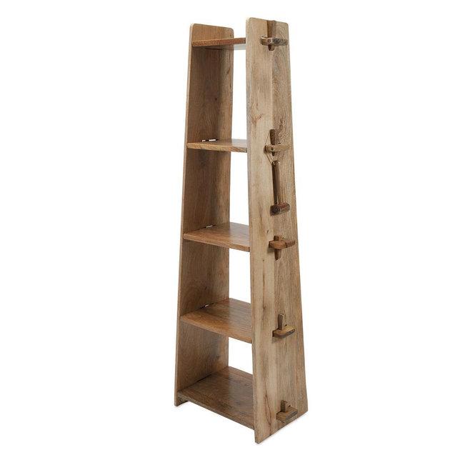 Wedge Joint Ladder Shelf Wood Shelves Shelves Wood Bookcase