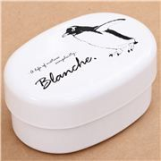 white penguin lacquer Bento Box lunch box from Japan