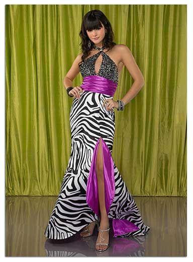 Prom dress zebra print drivers