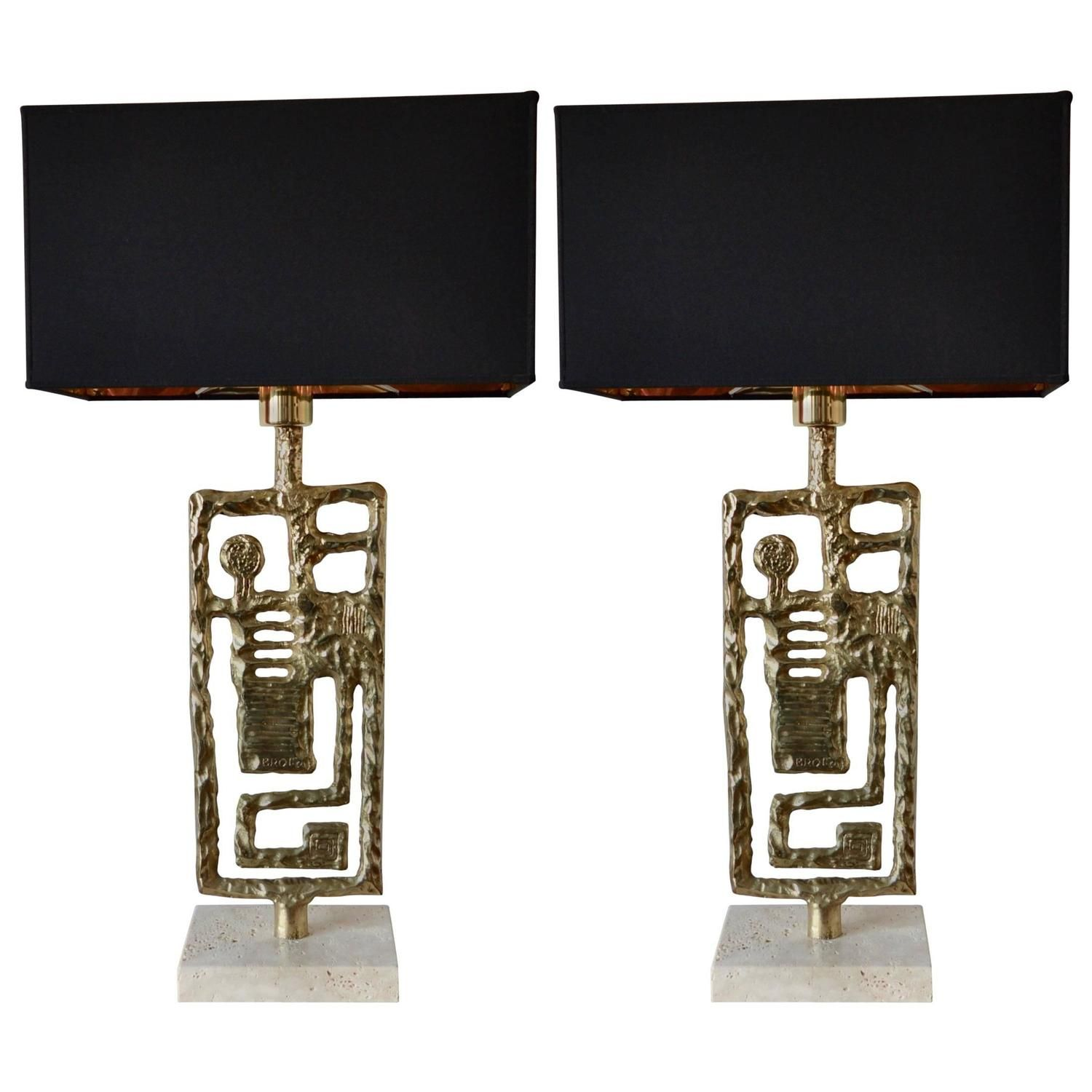 pair of table lamps by angelo brotto italy circa 1970 in 2019 rh pinterest nz