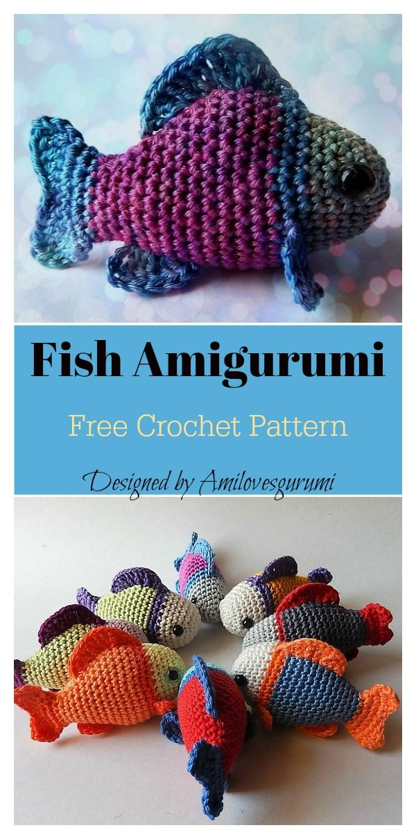 Little Fish Amigurumi Free Crochet Pattern #eastercrochetpatterns