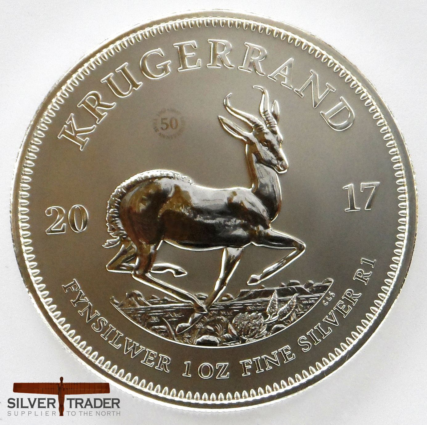 2017 South African Krugerrand 1 Oz Premium Silver Bullion Coin Silver Bullion Coins Silver Bullion Bullion Coins