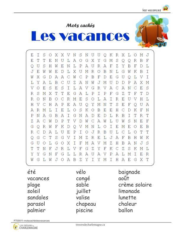Jeux Mots Cachés Francais Nationale Sud Ouest