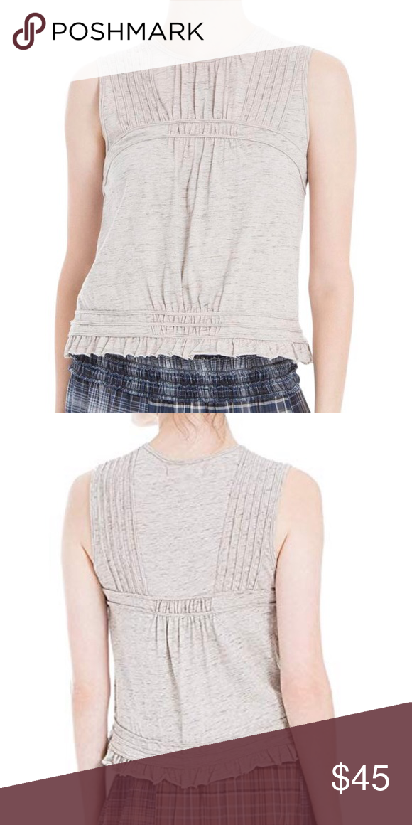 6963e055dfc54 MAX STUDIO LONDON Pleated Knit Tank MAX STUDIO LONDON Textured casual knit  top. Pullover sleeveless