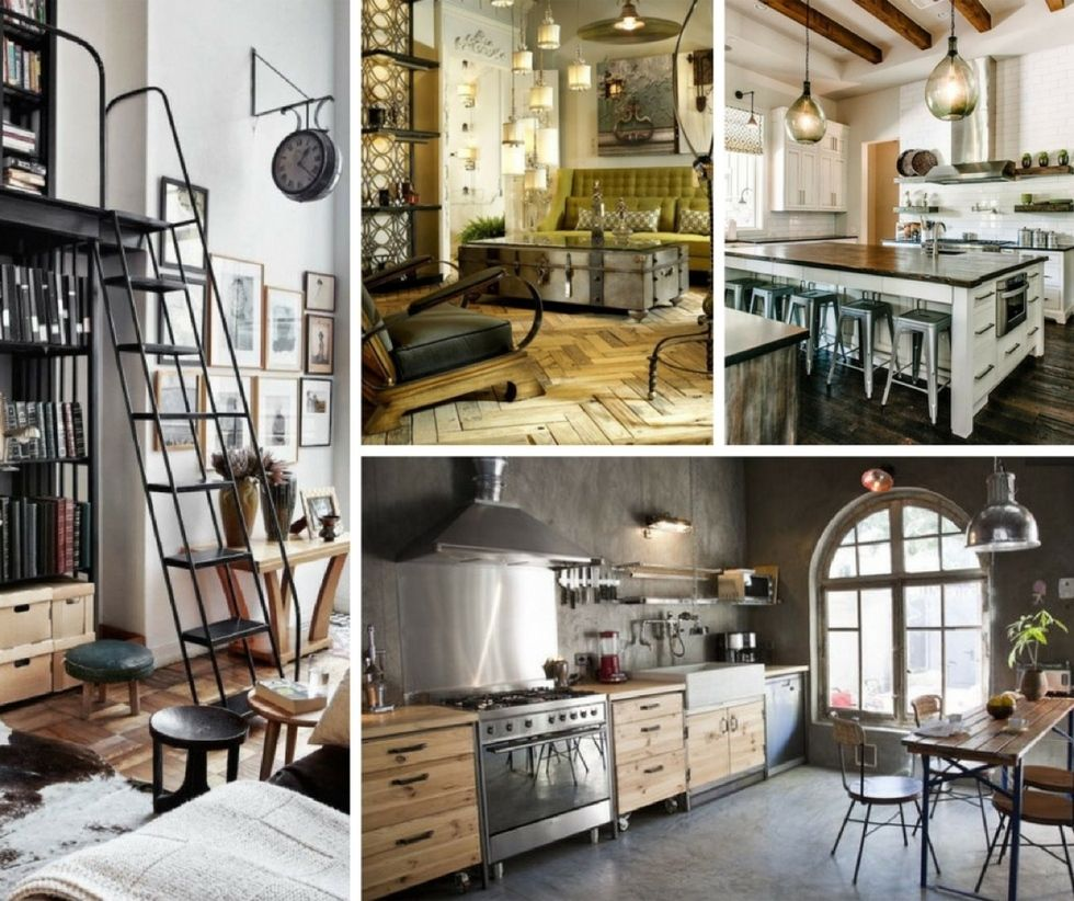Another industrial interior decoration for reading room is