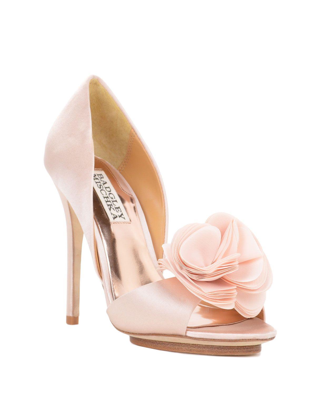 Wedding Shoes Blossom Silk Ruffle Pump