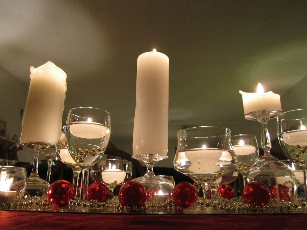 Christmas Dinner Table Centerpiece Christmas Candle Centerpieces Christmas Table Centerpieces Wine Glass Candle