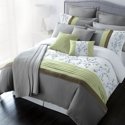 lifestyle linens 12 piece silk like duvet cover set