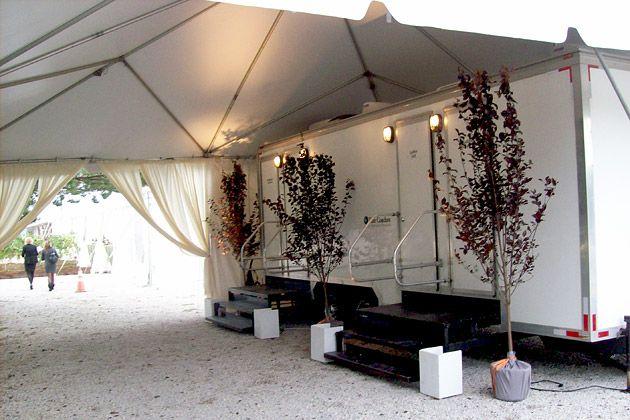 Odd Jobs Luxury Porta Potty Attendant Wedding Backyard Reception Porta Potty Wedding Wedding Restroom
