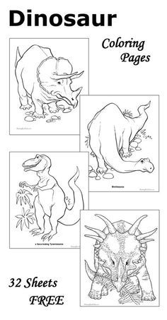 dinosaur coloring pages 32 free sheets to print and color repinned by totetude