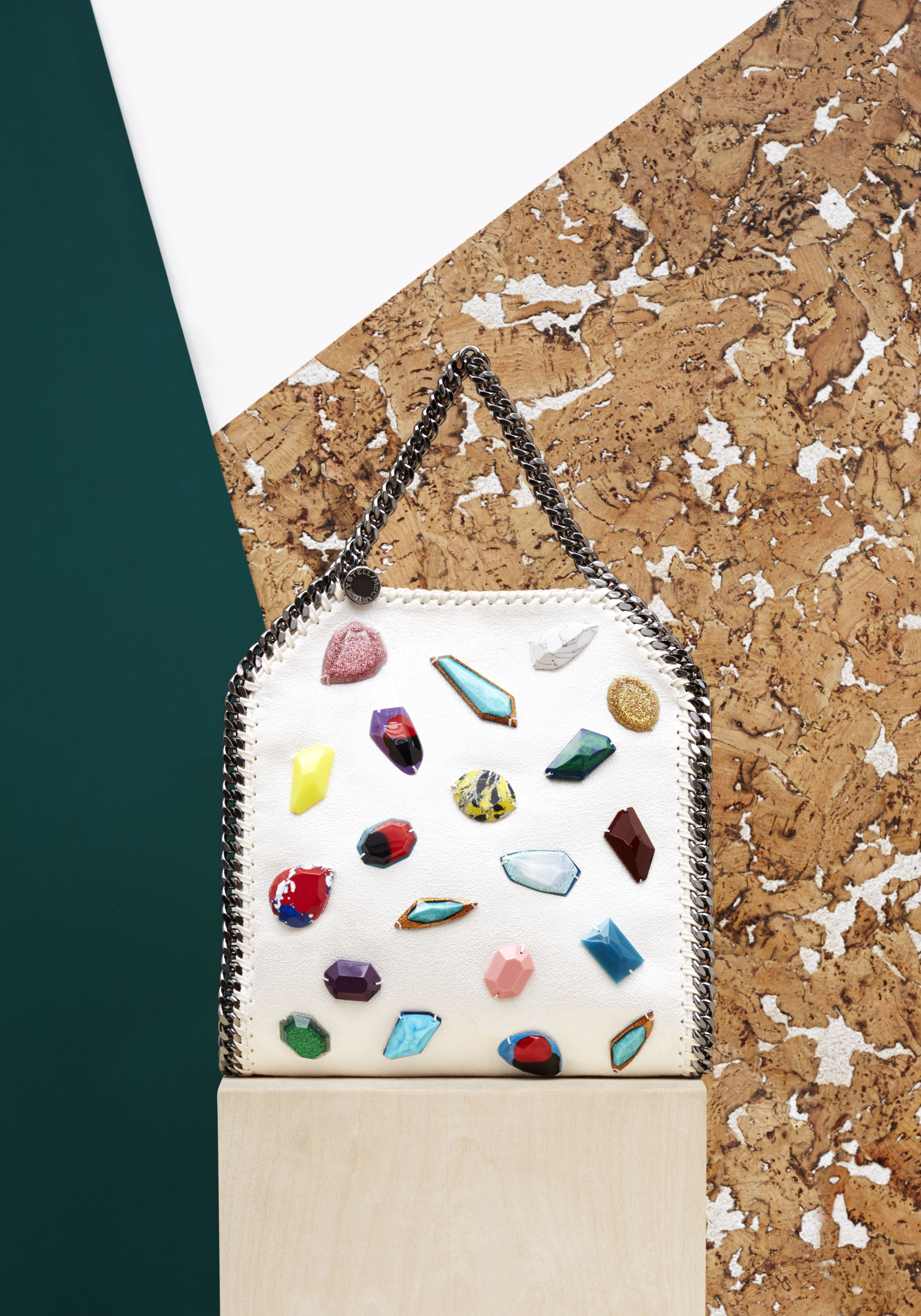 2de9f0c9533a2 Embroidered Falabella tote from the Stella McCartney Spring '15 collection  now available in a new mini size.