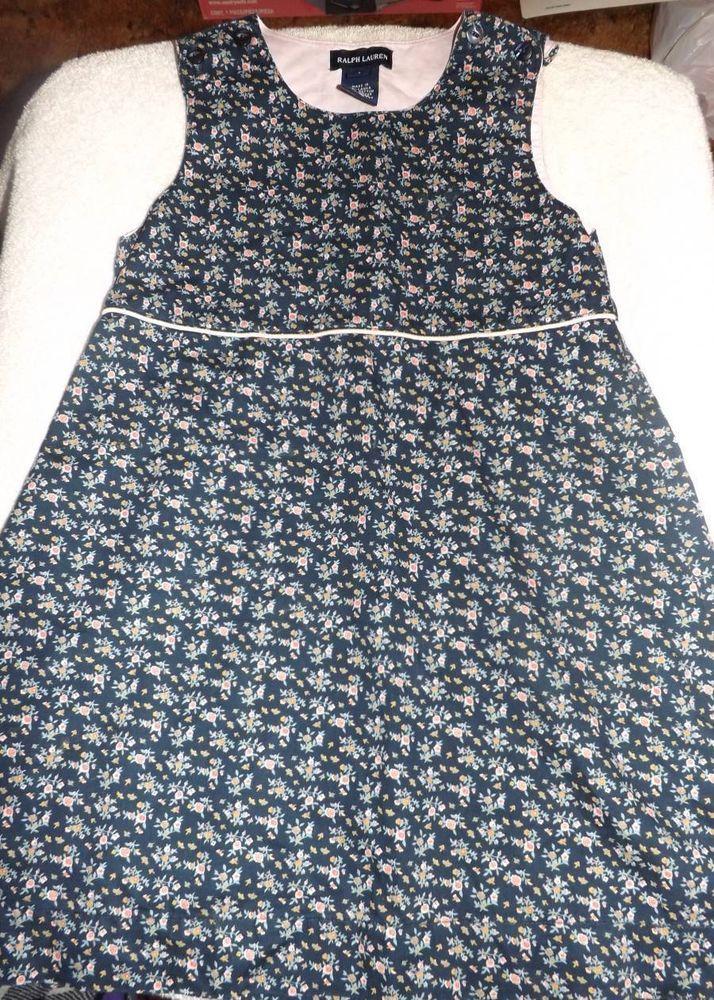 Ralph Lauren Girls Floral Dress size 5 EUC