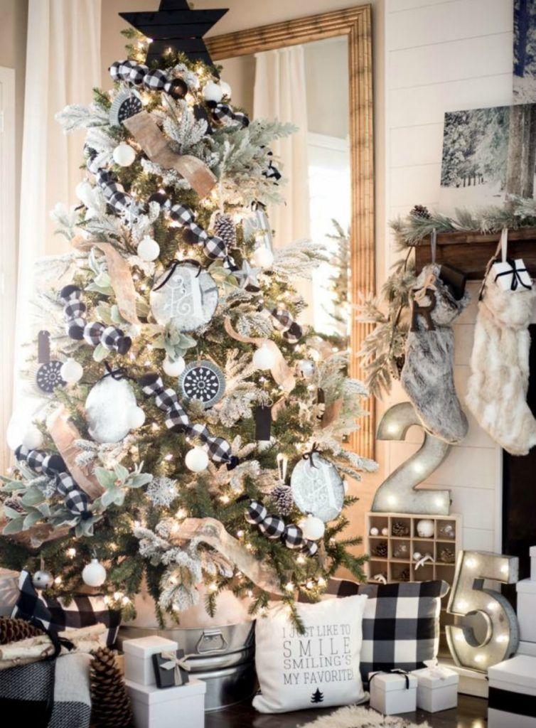 An Inspirational Guide To Farmhouse Christmas Decor Rustic Chic Christmas White Christmas Decor Farmhouse Christmas Decor