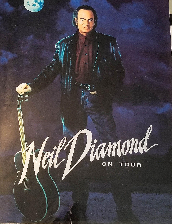 Neil Diamond On Tour 1996 Souvenir Concert Tour Book Vintage Etsy In 2020 Neil Diamond Neil Diamond Concert Diamond Tours