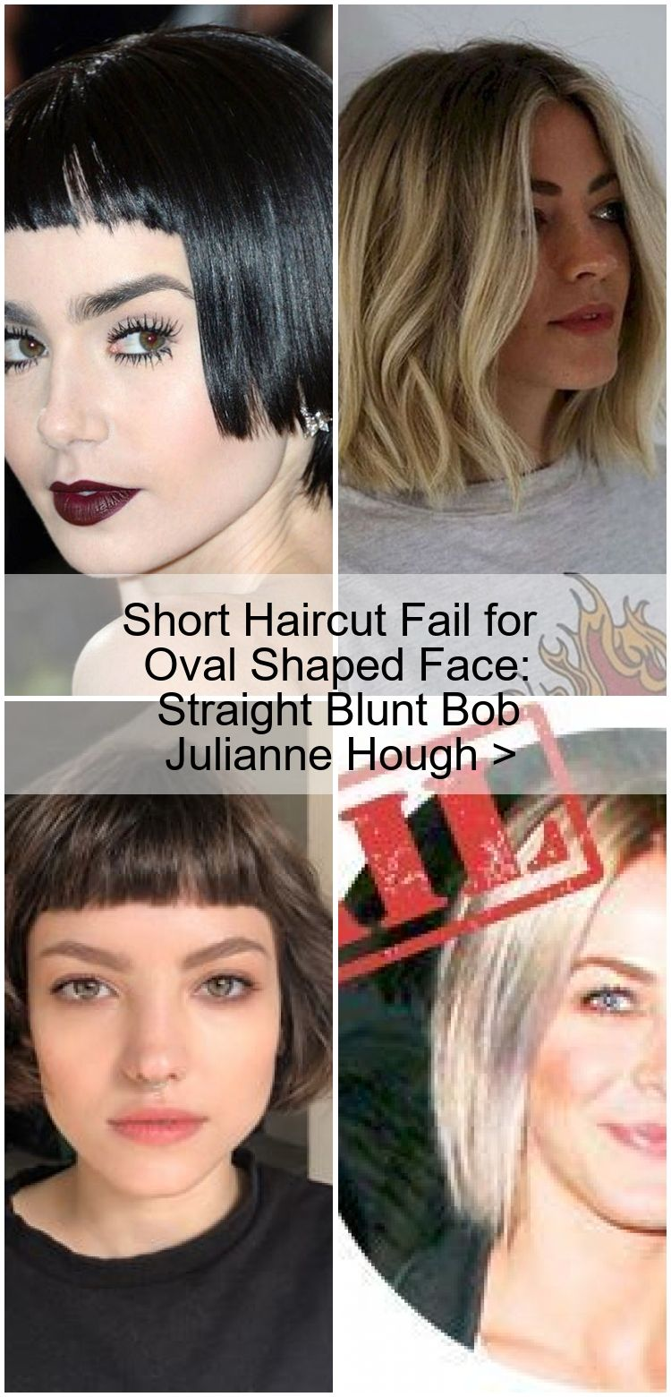 Short Haircut Fail For Oval Shaped Face Straight Blunt Bob Julianne Hough Haarschnitt Bob Haarschnitt Haare