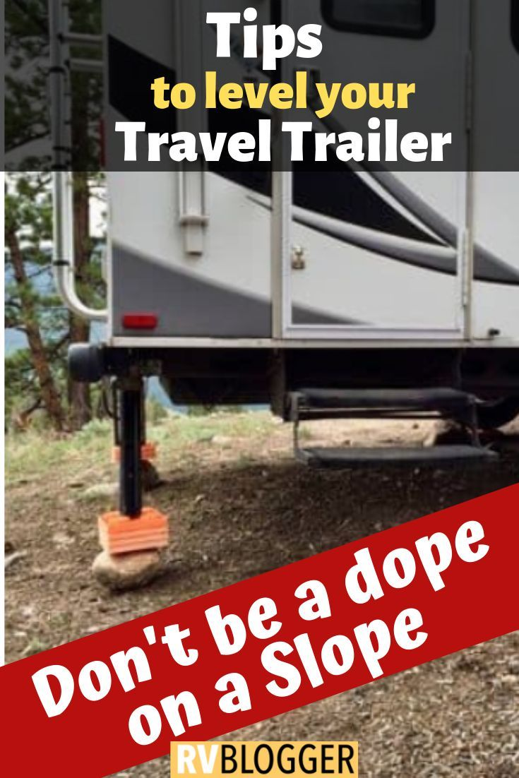 How To Level a Travel Trailer on a Slope | Camping and