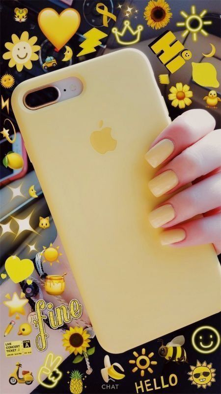 cover iphone 8 gialla