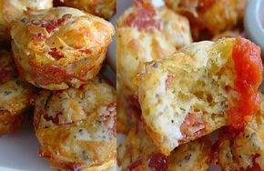 De Colher Pra Colher: Muffin de Pizza