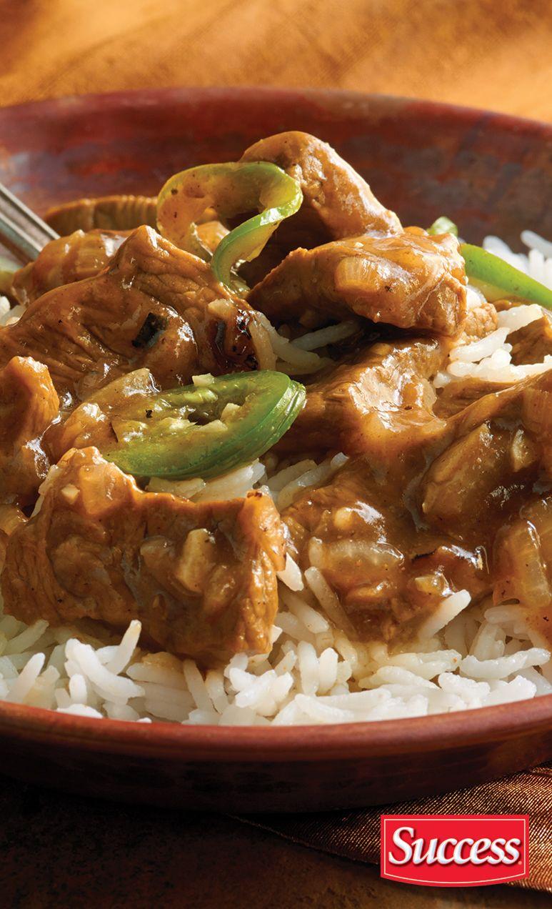 Delicious Bangladeshi Beef and Rice made with Success Basmati Rice. #beefandrice