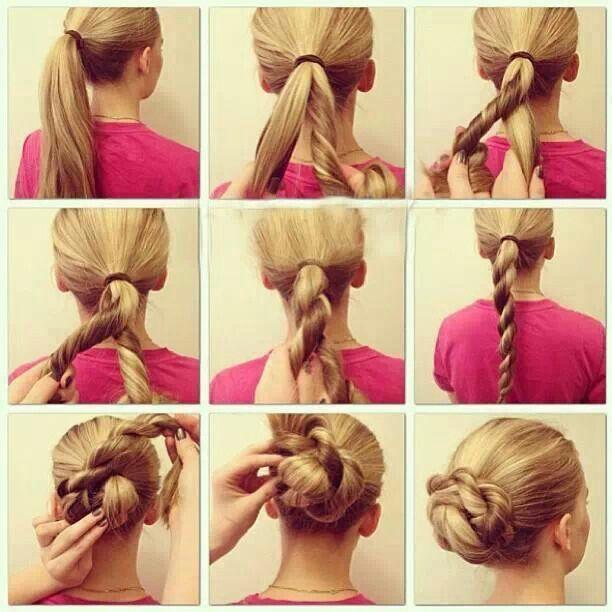 Easy Diy Bun Hairstyles: Hair Styles, Long Hair Styles, Diy