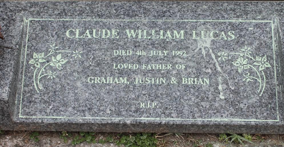 Claude William Lucas (1928 - 1992) - Find A Grave Photos