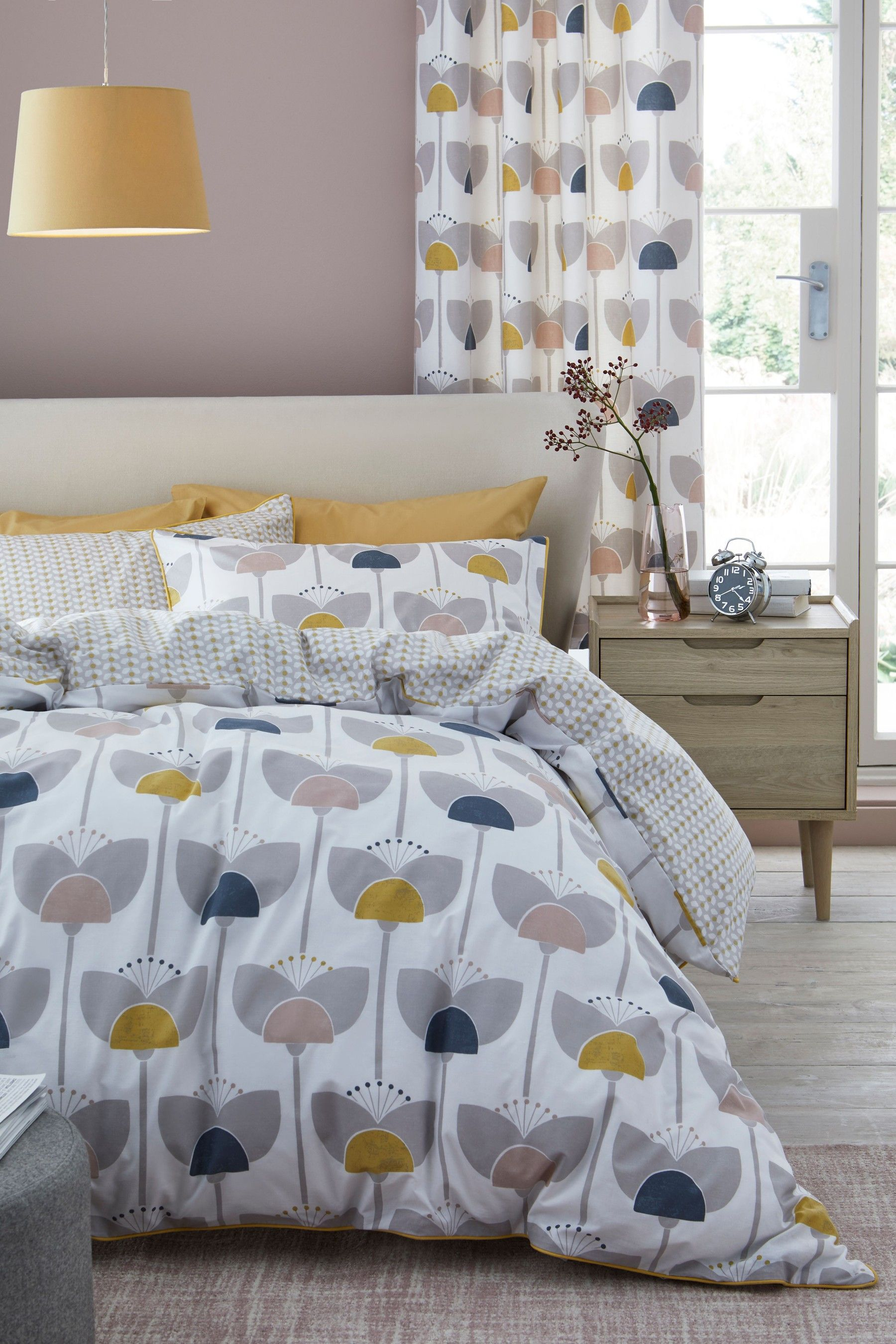 Buy Retro Tulip Duvet Cover and Pillowcase Set from Next