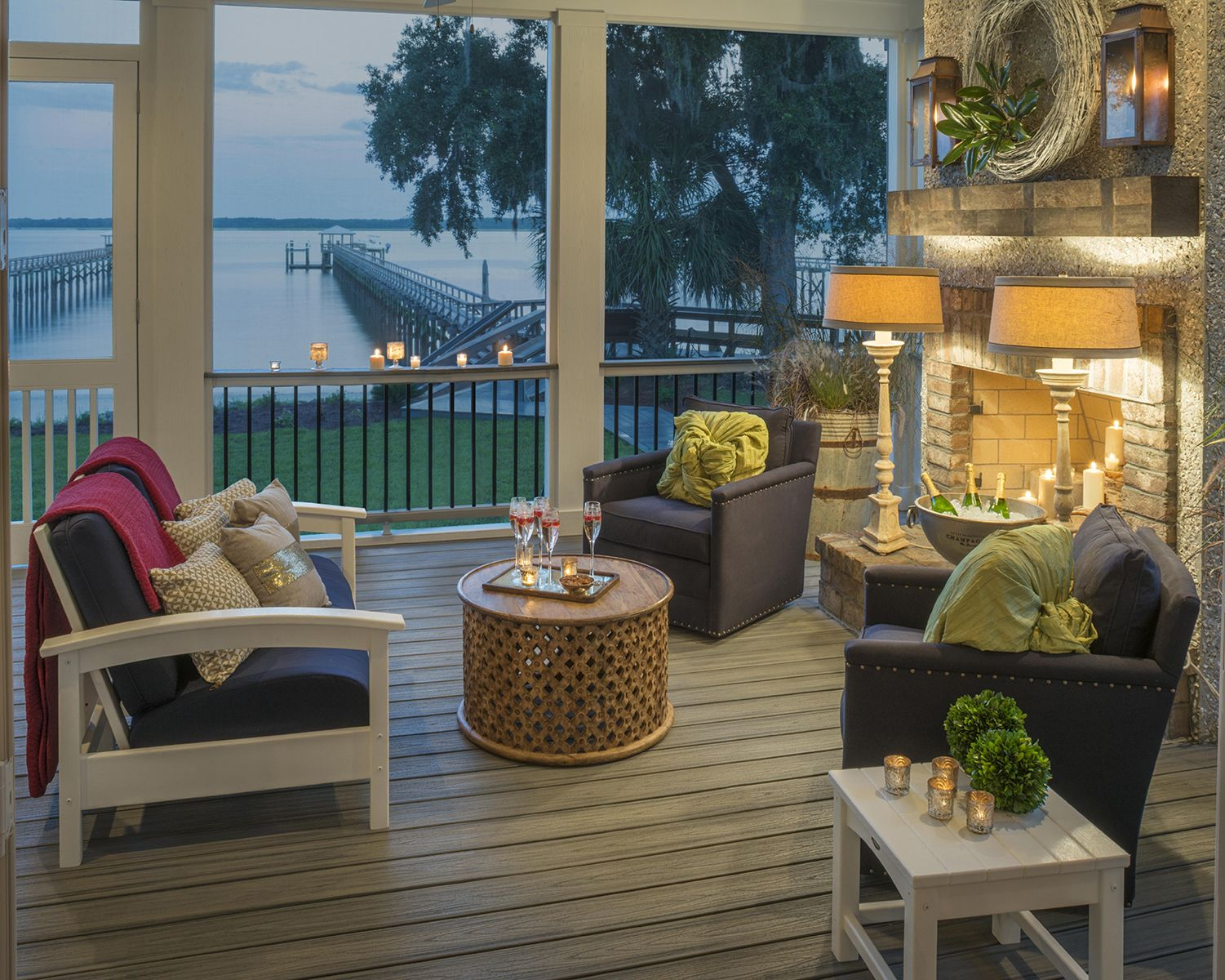 A Cozy Screened In Trex Porch Is The Perfect Spot To Curl