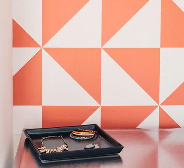 Perfekt Zweifarbige Quadrate Für Eine Eigenartige Wandgestaltung   62 Kreative  Wände Streichen Ideen U2013 Interessante Techniken
