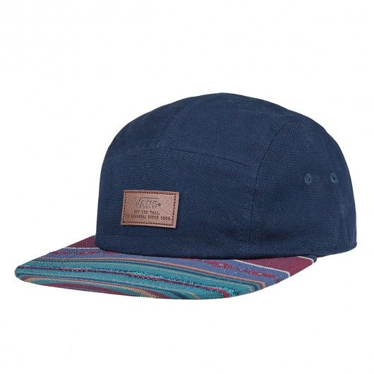 051a8ab2175 VANS Davis 5 Panel Camp woven dobby stripes casquette five panels ...