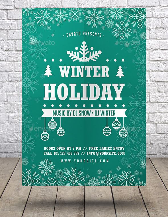 Winter Holiday Flyer Winter holidays, Flyer template and Template - winter flyer template