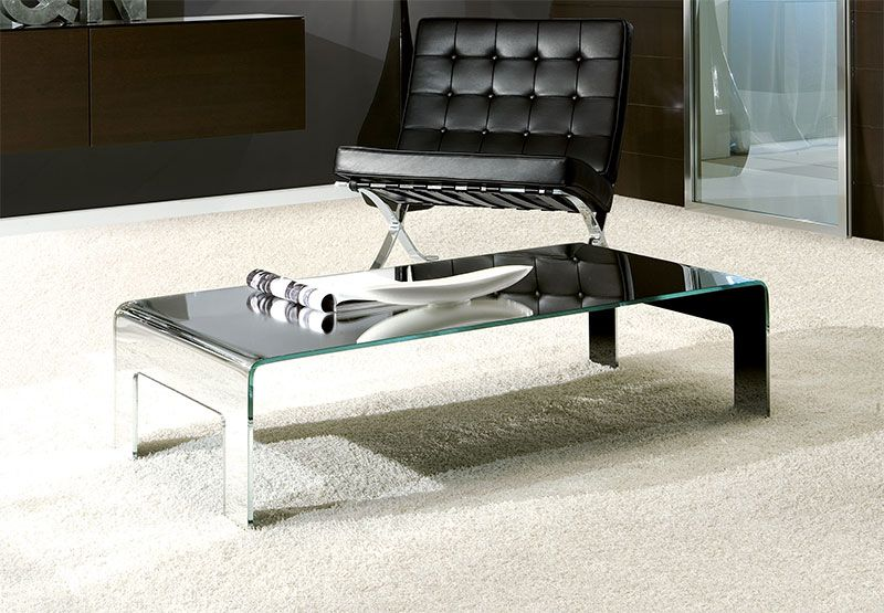 Mirror Gl Coffee Table Modern Unico Feet In 5