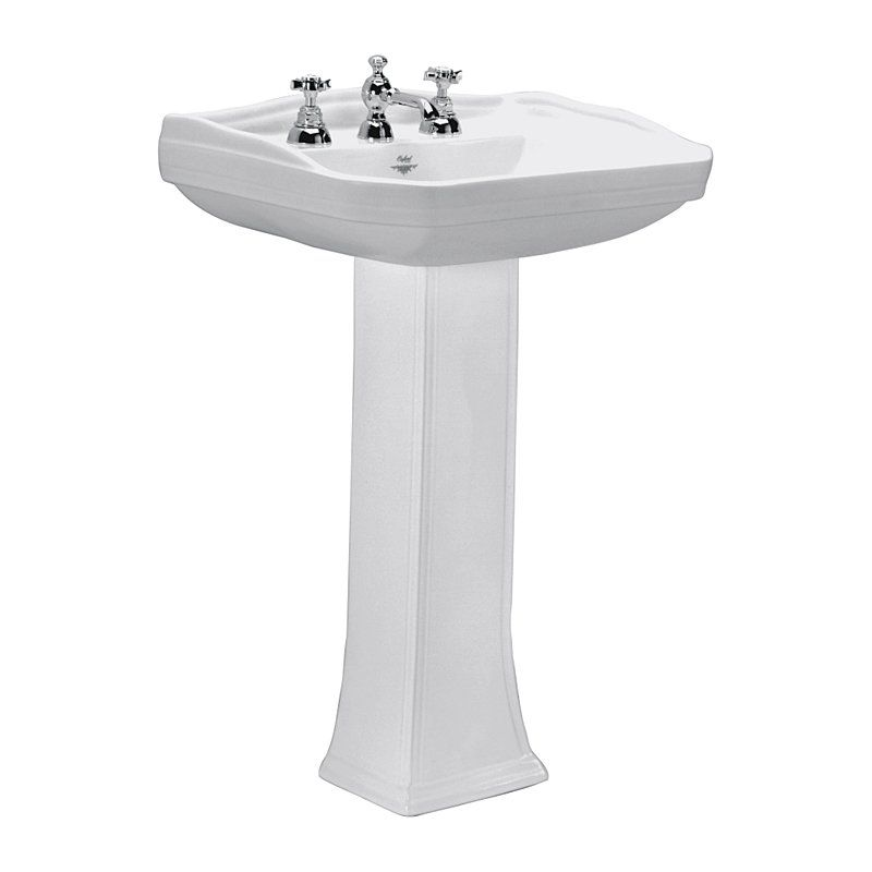 Deca OS 8P 17 Oxford Pedestal Sink Some Nice Detailing But Only In White