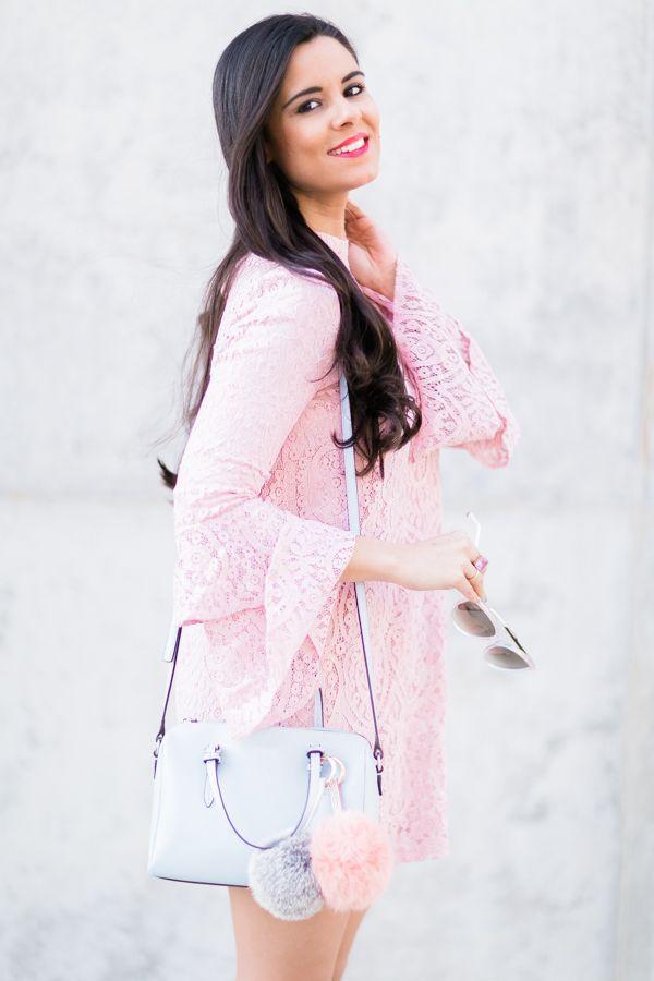 Pink lace dress Moda - Crímenes de la Moda