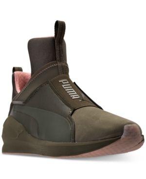 f5ecad6bd02 Puma Women's Fierce Nubuck Naturals Casual Sneakers from Finish Line - Green  10