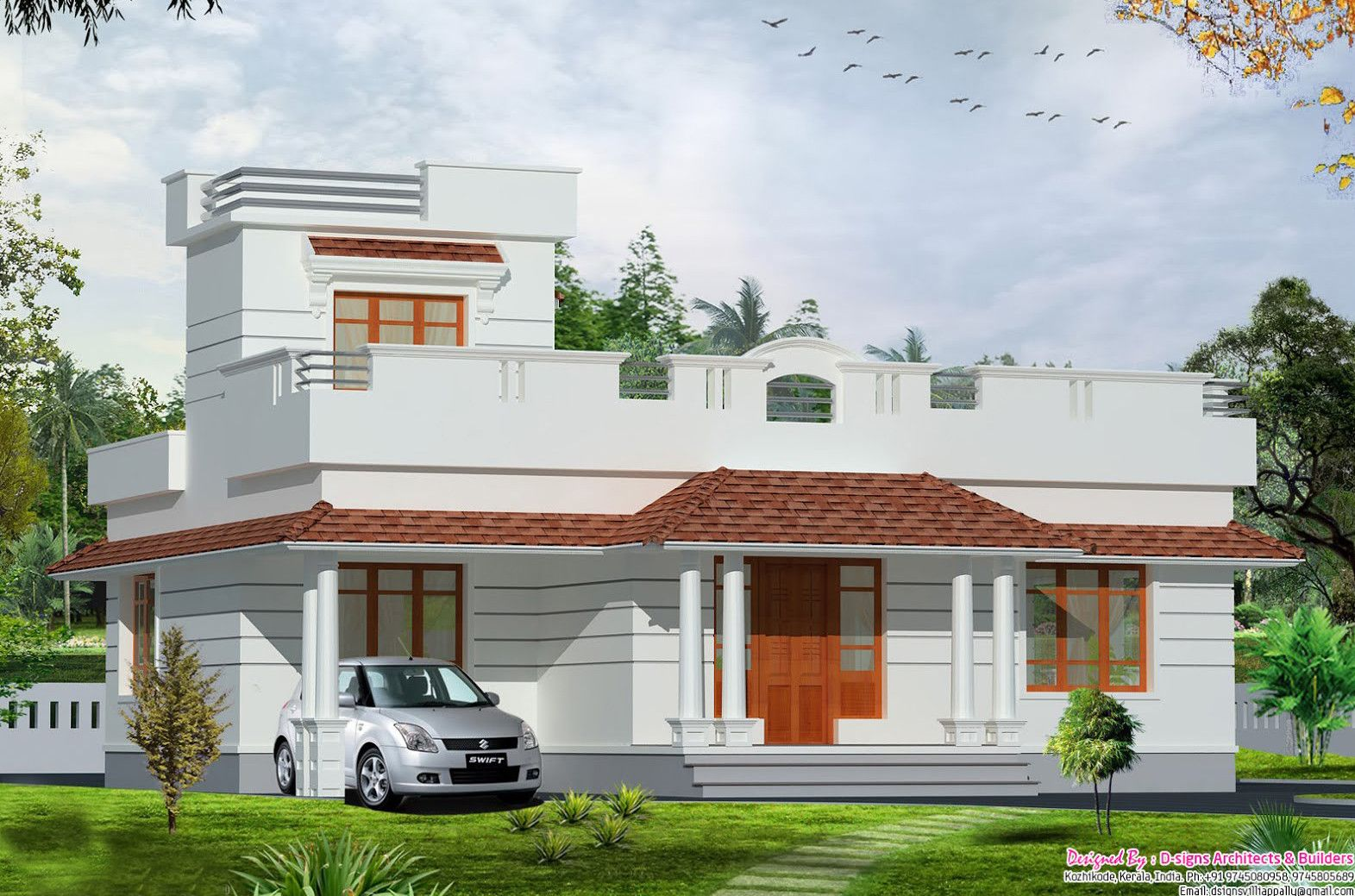 Small Simple But Beautiful House Roof Deck Decoratorist 130854 In 2020 House Design Luxury House Plans Building Plans House