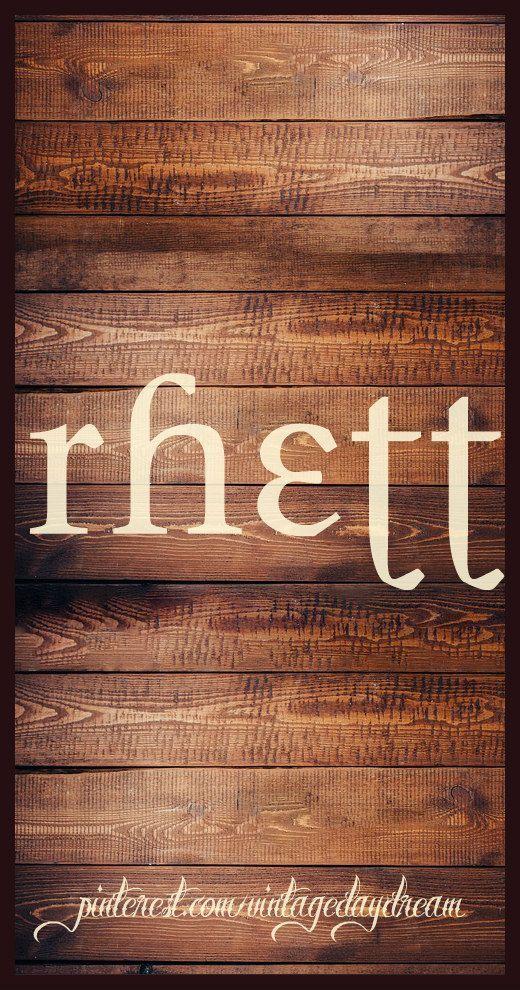Baby Boy Name: Rhett. Meaning: Advice or Counsel. Origin: Dutch. www.pinterest.c