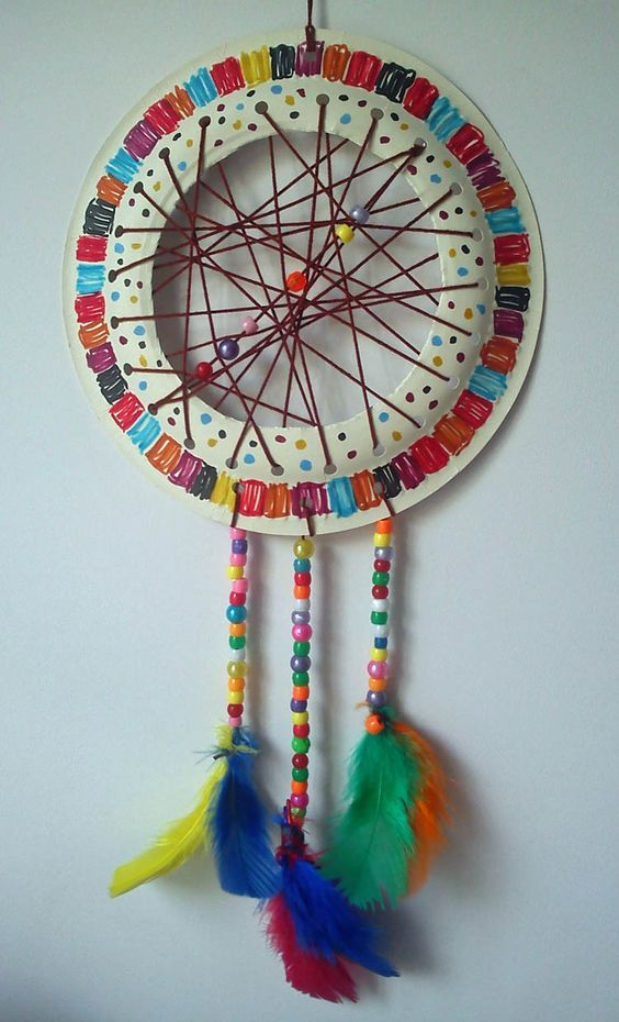 How To Make Dream Catchers Easy Craft And Activities For All Ages Paper Plate Dream Catcher
