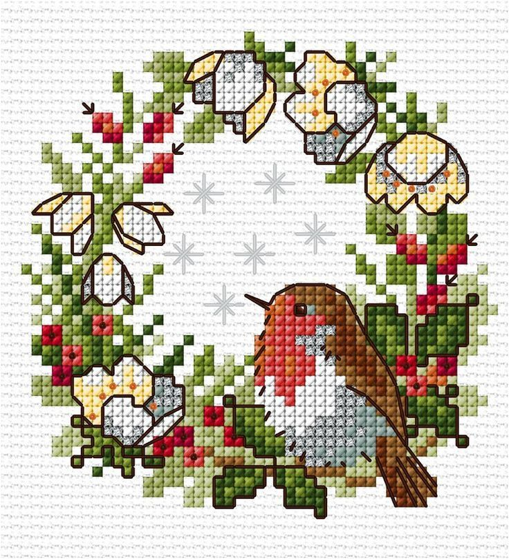 Photo of This sweet little robin is easy to stitch on eithe… – #counting #easy #eithe #…