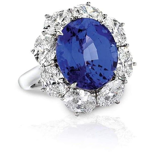 Tiffany & Co. Tanzanite and Diamond Ring ❤ liked on Polyvore featuring jewelry, rings, tiffany co rings, tanzanite rings, diamond jewelry, tanzanite jewellery и diamond jewellery