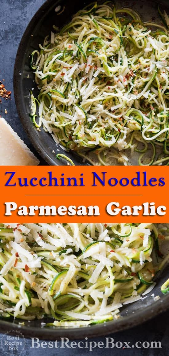 Zucchini Noodle Recipe Garlic, Butter, Parmesan Cheese Low Carb Keto #zucchininoodles