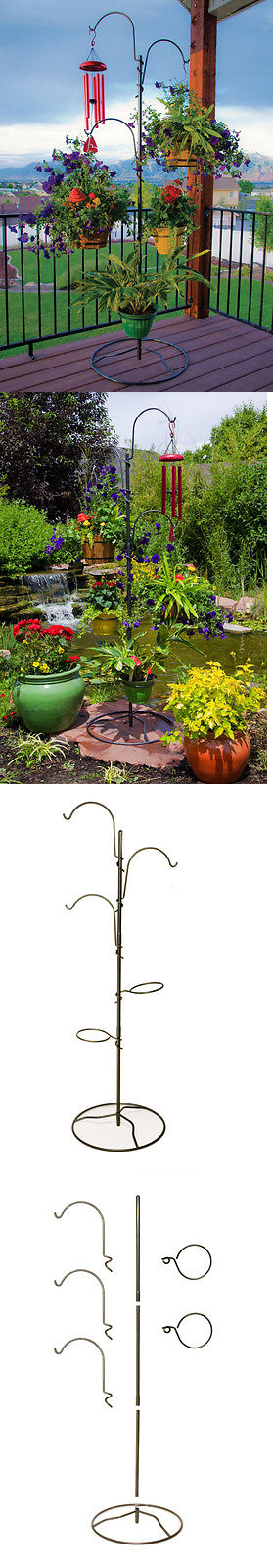 Plant Stands 29514: Hanging Plant Holder Indoor Pots Baskets Heavy Duty  Stand Outdoor Flower Patio