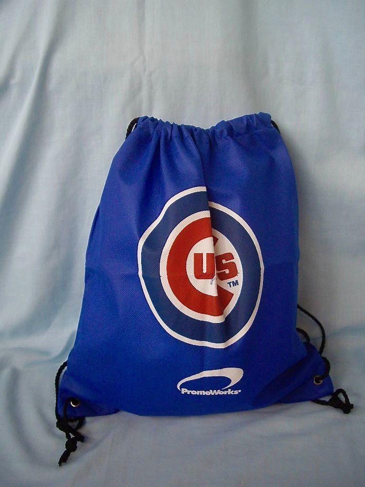 6a1af8279 MLB Chicago Cubs Drawstring Slink Backpack Sack Tote Bag #ChicagoCubs