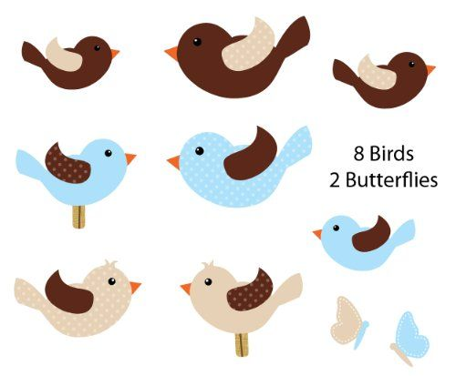 Blue Bird Wall Decals for Baby Nursery, 8 Birds Nursery Decals and More http://www.amazon.com/dp/B00J37J1B0/ref=cm_sw_r_pi_dp_AEQPvb06BPJS6