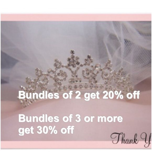 EVERYDAY BUNDLE DISCOUNT 2 ITEMS 20% OFF  3 OR MORE 30% OFF BUNDLES. I'll make your listing if you're getting more than 2 items. Thanks Accessories