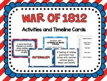 War of 1812 activities and timeline cards for the classroom war of 1812 activities and timeline cards please note that this product includes the major events of the war of 1812 timeline cards included in this publicscrutiny Choice Image