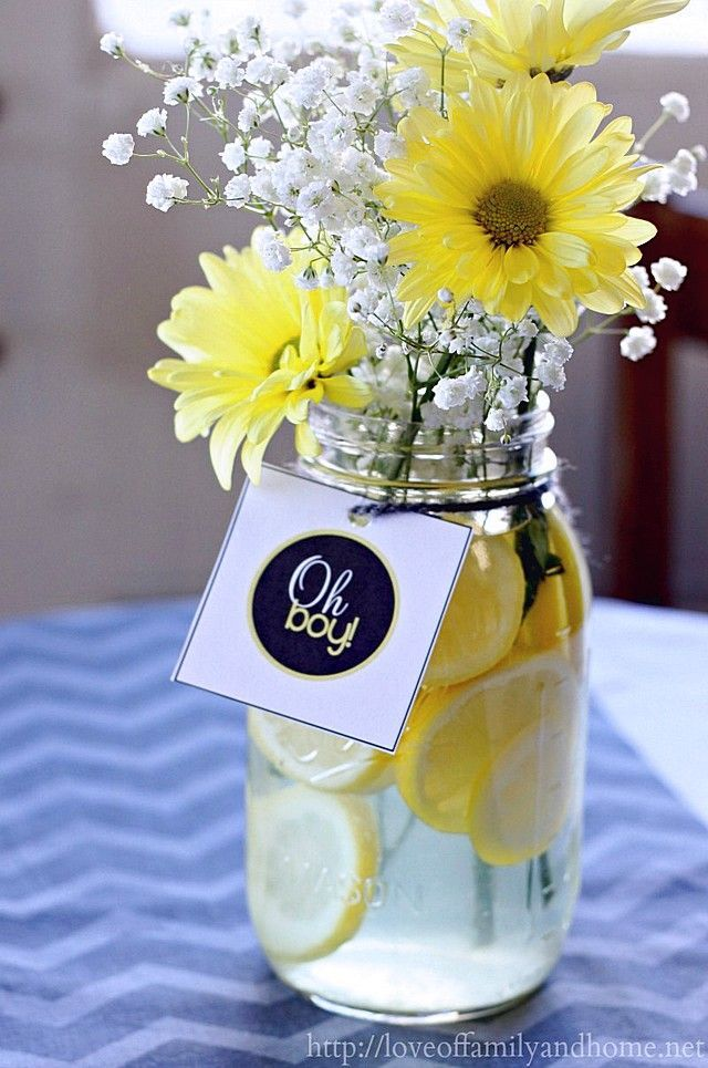 101 Easy To Make Baby Shower Centerpieces Baby Shower Yellow
