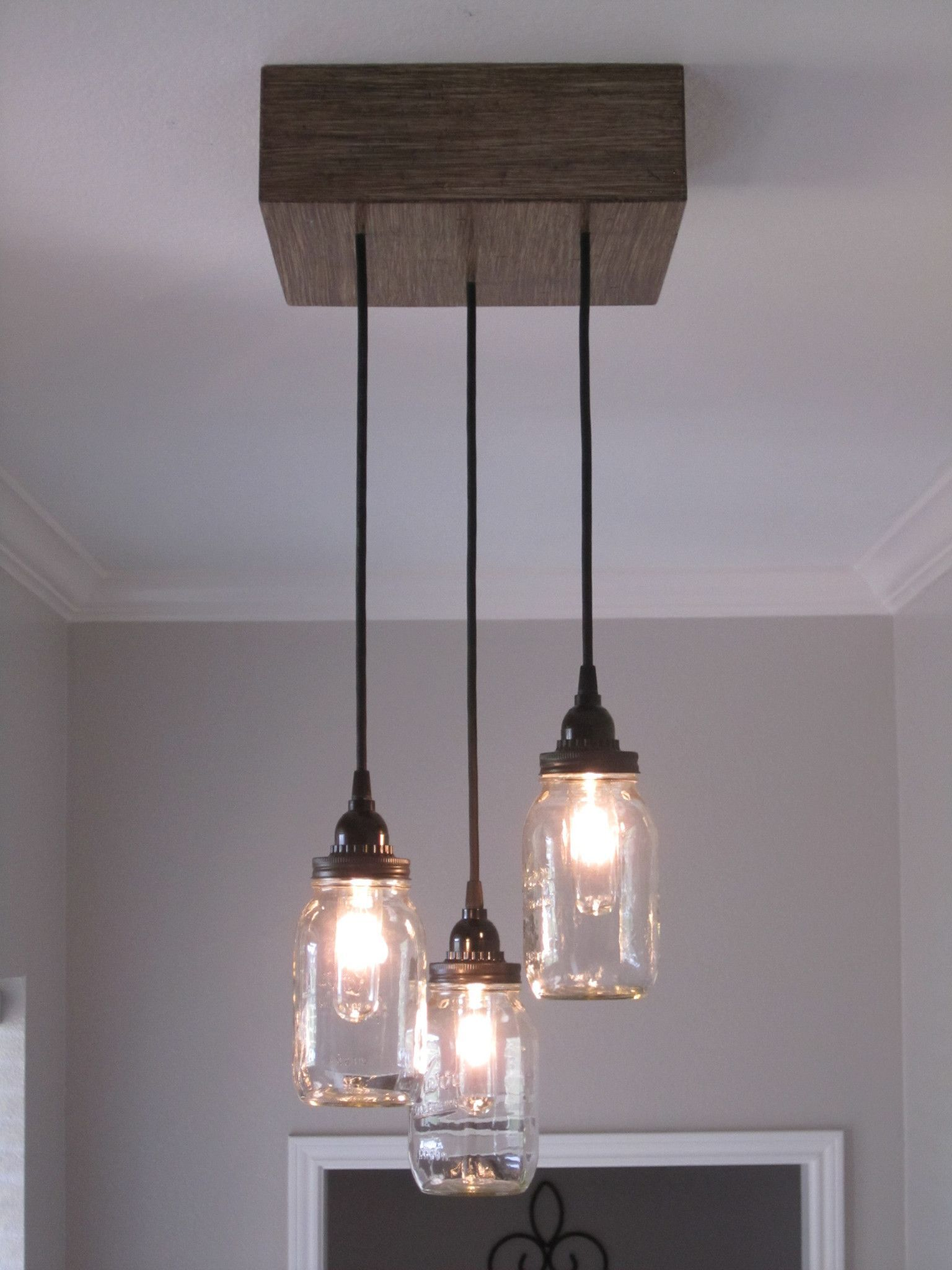 Square 3 mason jar ceiling light chandelier lights pinterest square 3 mason jar ceiling light chandelier arubaitofo Choice Image